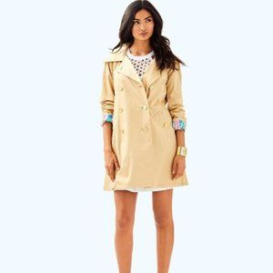Lilly Pulitzer Qynn Trench Coat, S